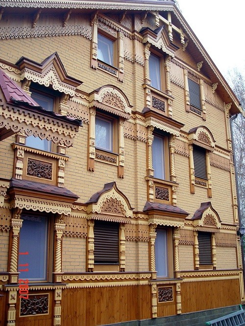 Wooden lace of Russian houses