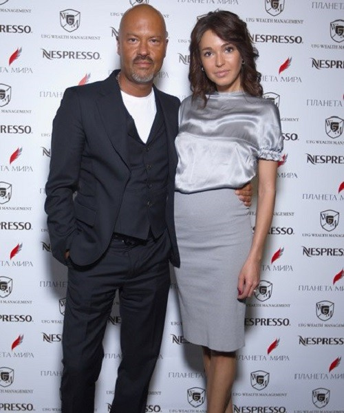 Agne with Fyodor Bondarchuk, film director