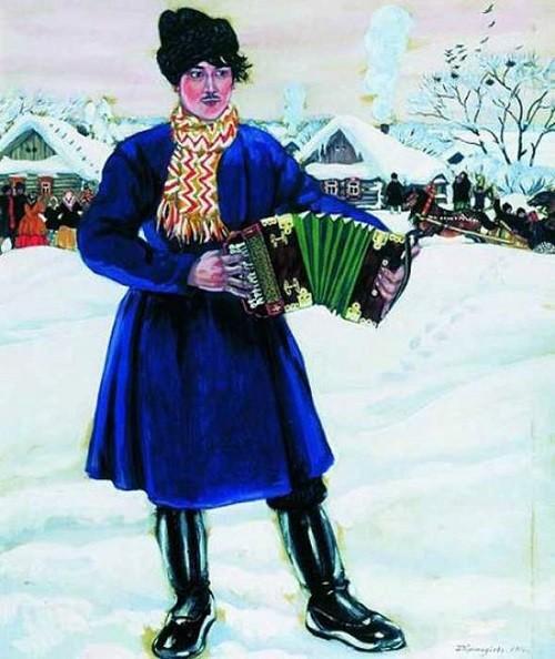 Boris Kustodiev 'Country Carnival (Harmonist)' 1916