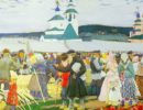 Boris Kustodiev. The Fair. Russian art Tretyakov Gallery