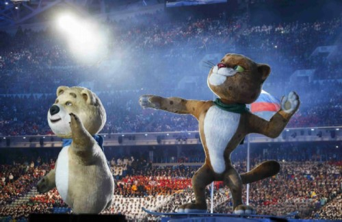 For the first time, the mascots were chosen through an open general vote, as a result of which the White Bear, Leopard and Bunny received the largest number of votes.
