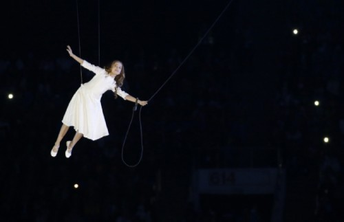 Liza Temnikova, an 11-year-old gymnast from Krasnodar, played the main character of the opening ceremony of the Olympic Games on February 7, 2014.