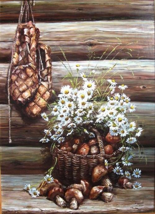 Russian artist Mikhail Shchrilev