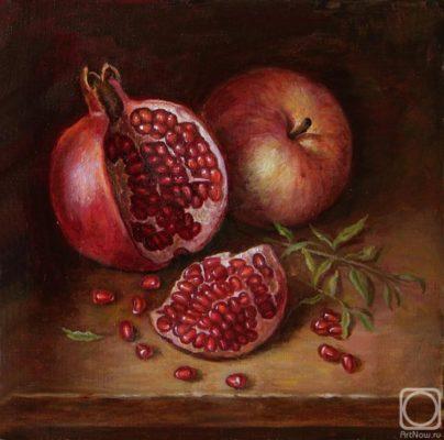 "Picture: ""Pomegranate"". Russian artist Irina Gayduk"
