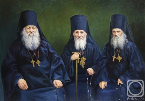 Portrait of the Optina Elders Anthony, Moses and Macarius
