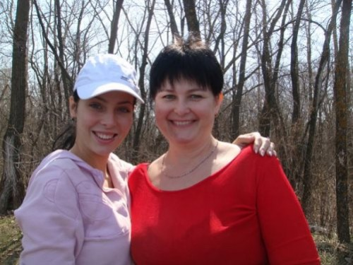 Julia Alipova with her mother Natalia