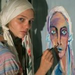 Russian fashion icon and artist Sasha Pivovarova