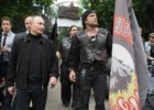 Vladimir Putin, and Alexander Zaldostanov - Russian bikers Night Wolves