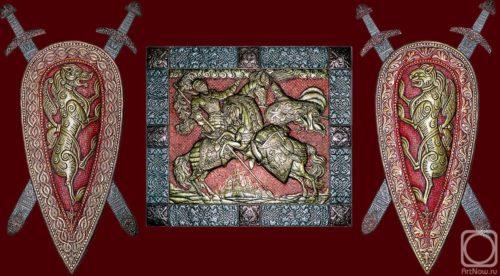 Triptych Russian. Eternal Russia Metal art by Victor Morozov