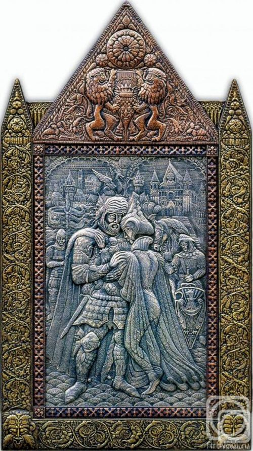 King Arthur's Farewell to Ginevra. Eternal Russia Metal art by Victor Morozov