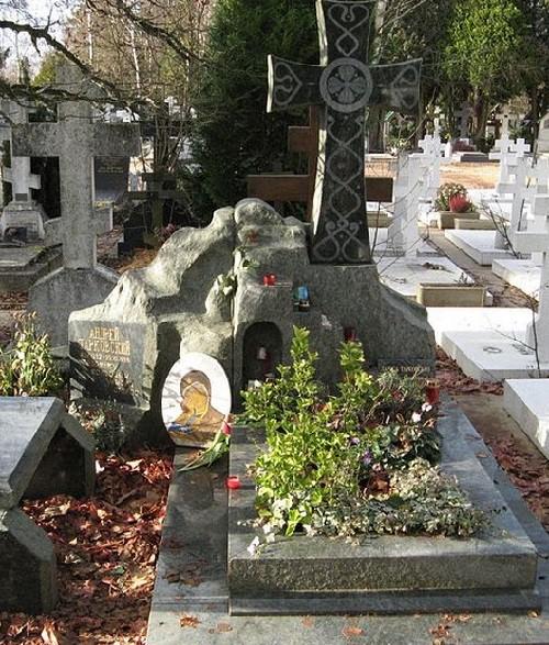 Tomb of Andrei Tarkovsky (4 April 1932 – 29 December 1986) - Soviet and Russian film-maker, writer