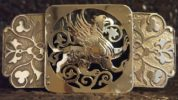 Buckle - Suzdal Griffin. Brass, handmade. Artistic forging by Alexander Mashakov