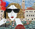 Carnivale A Venezia. Mosaic art by Russian artist Irina Charny