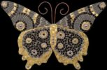 Gold & Black Butterfly. Mosaic art by Russian artist Irina Charny