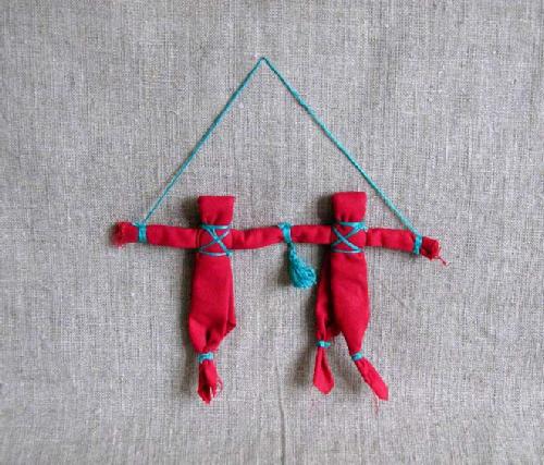 Lovebirds dolls. Russian Patchwork dolls by Marina Mishina