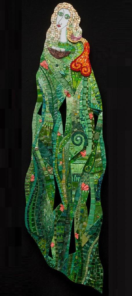 Primavera. Mosaic art by Russian artist Irina Charny