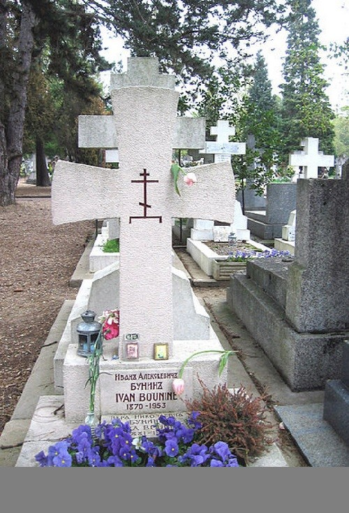 Russian culture Tomb of Ivan Bunin, Russian writer  ~ Centre Equestre Sainte Genevieve Des Bois
