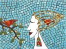 Two Birds. Mosaic art by Russian artist Irina Charny