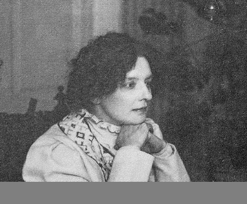 Zinaida Nikolaevna Gippius, (November 20, 1869 – September 9, 1945) - Russian poet, playwright, editor, short story writer and religious thinker