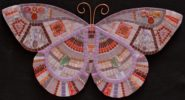 purple butterfly. Mosaic art by mosaicist Irina Charny