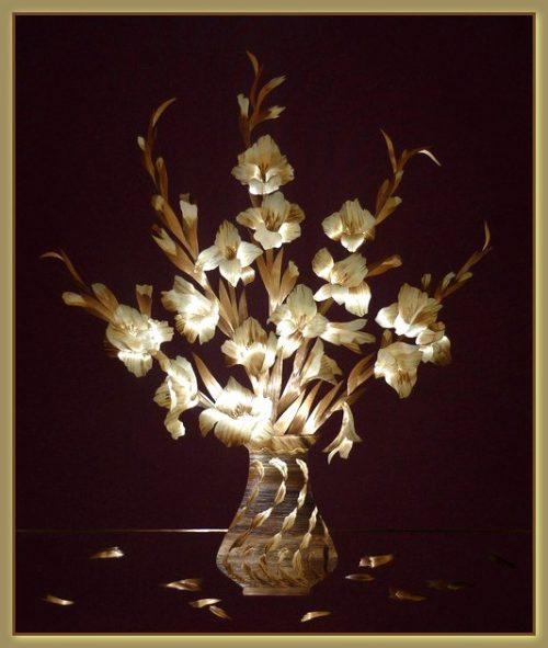 Bouquet of gladioli
