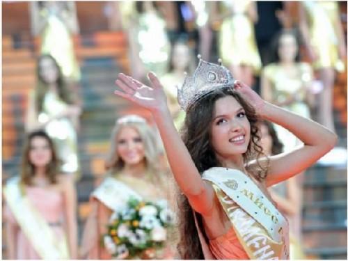 Elizaveta Golovanova at the Miss Russia 2012