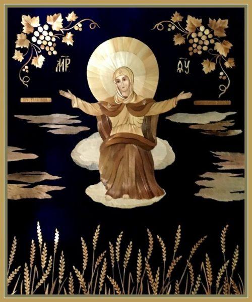 Straw art by Lydiya Retivskaya. Icons from straw Lydia Retivskaya