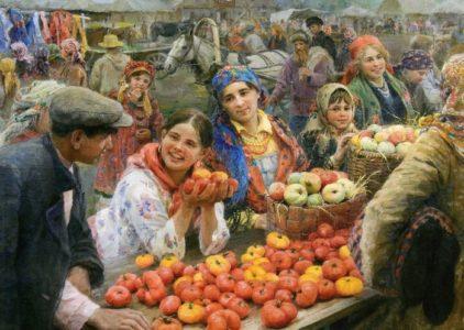 Collective farm bazaar, 1936