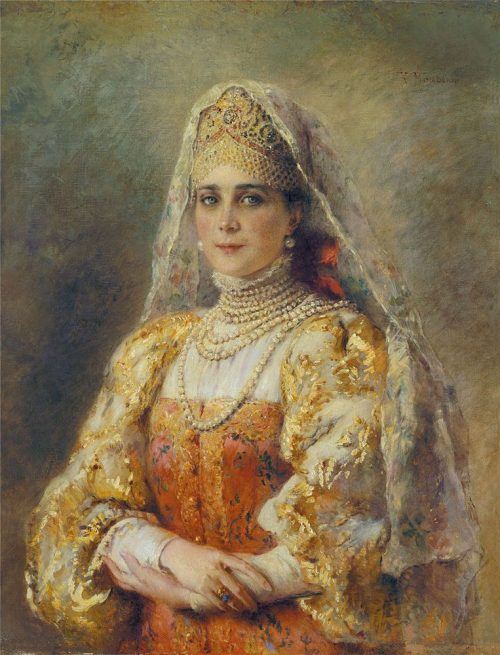 Portrait of Princess Zinaida Nikolaevna Yusupova in Russian costume