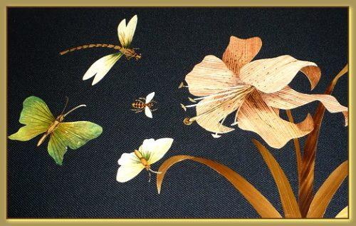 Straw floristry. Straw art by Lydiya Retivskaya