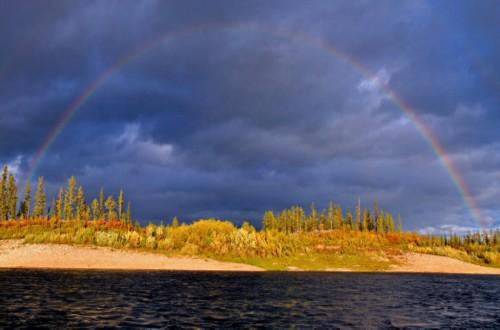 The Olenyok River in Siberia