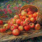 'Almaty Apples' 1937. Artist Fedot Sychkov