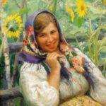 'Among sunflowers'. Artist Fedot Sychkov