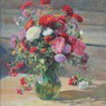 'Asters', 1940. Artist Fedot Sychkov
