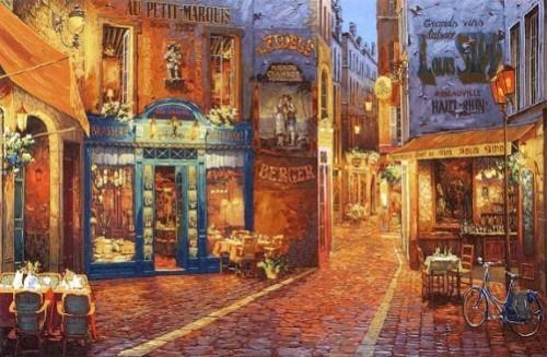 Au Petit Marquis. Painting by Viktor Shvaiko