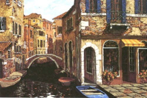 Autumn in Venice. Painting by Viktor Shvaiko