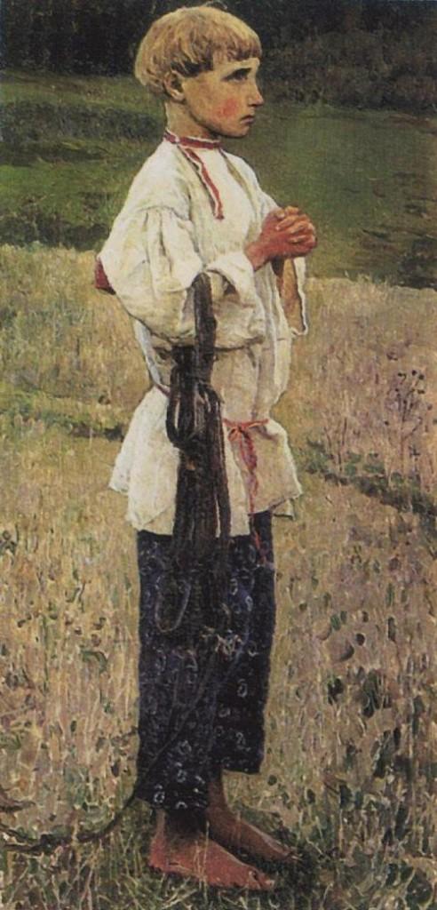 Bartholomew. sketch. Painting by Russian artist Mikhail Nesterov