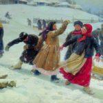 'Down the hills', 1910. Artist Fedot Sychkov