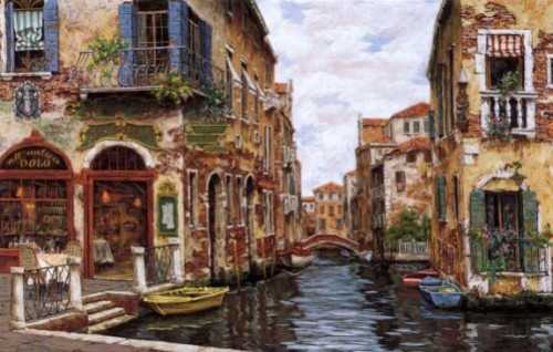 Dreams of Venice. Painting by Viktor Shvaiko