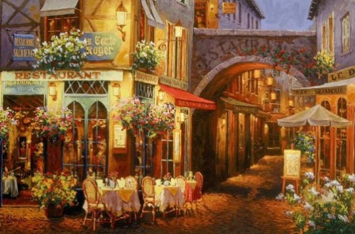 Evening in Provence. Painting by Viktor Shvaiko