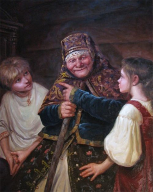 Granny's tales, 2008. Painting by Andrey Shishkin