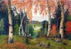 In the autumn forest. Saint Russia by Mikhail Nesterov
