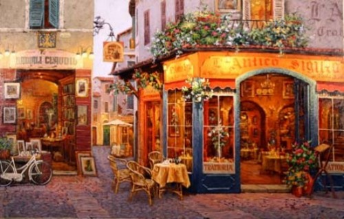 L'Antico Sigillo. Painting by Viktor Shvaiko