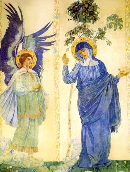 Nesterov M.V. Annunciation. Archangel Gabriel and Virgin Mary