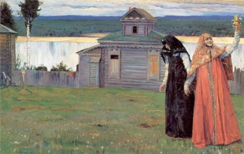 Saint Russia by Mikhail Nesterov Monastic seclusion, two sisters 1915