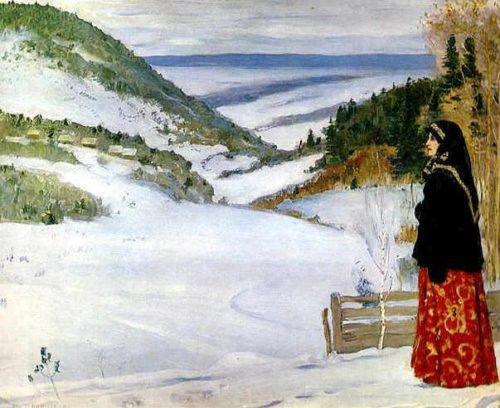Nesterov M.V. Winter in a distant monastery 1904