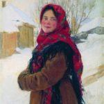 'Peasant Girl'. Artist Fedot Sychkov