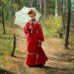 'Portrait of Lydia Sychkova, the Artist's Wife', 1903. Artist Fedot Sychkov