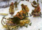 'Sledging'. Russian artist Fedot Sychkov