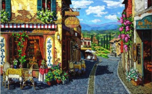 Summer in Tuscany. Painting by Viktor Shvaiko